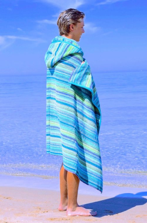 large hooded beach towel
