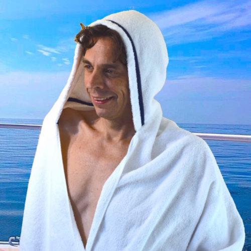 mens hooded towel