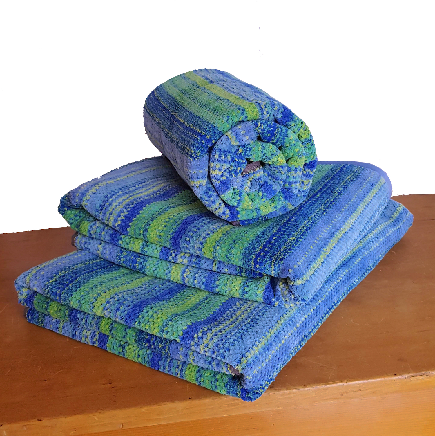 """Set Of 3 """"Sunset Blue"""" Oversized Towels (without Hoods"""
