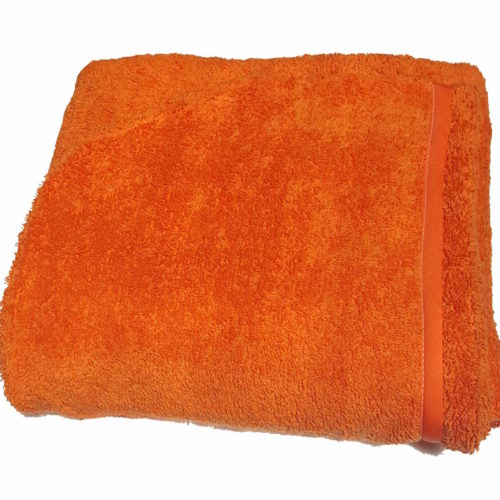 orange hooded towel for adults