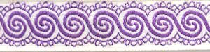 Purple Swirl Ribbon for Adult Hooded Towel